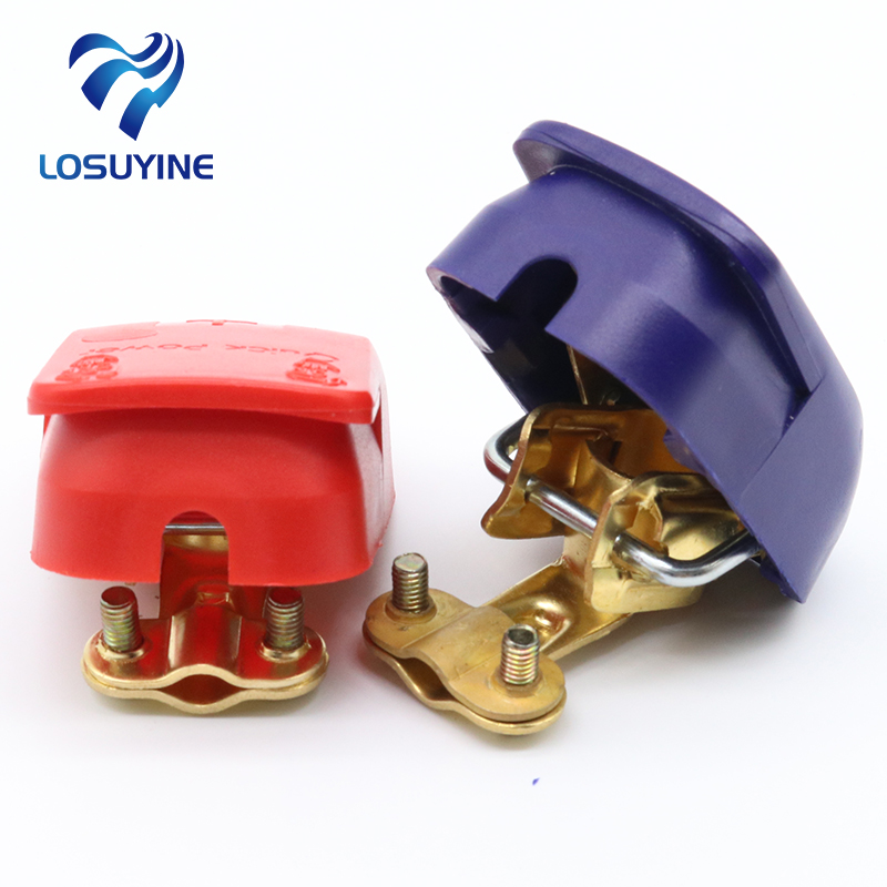 2pcs Universal 12/24V Battery Switch Quick Release Scap Battery Terminals Connectors Clamps for Boat / Truck / Car / Van