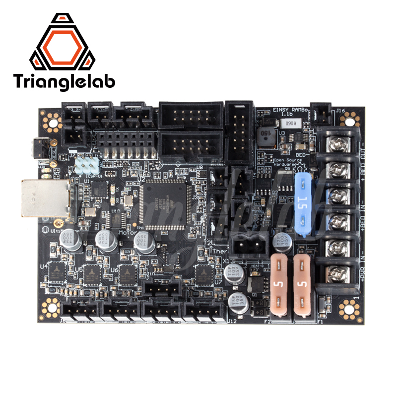 trianglelab Einsy Rambo 1 1b Mainboard For Prusa i3 MK3 MK3S 3D printer TMC2130 Stepper Drivers 4 Mosfet Switched Outputs
