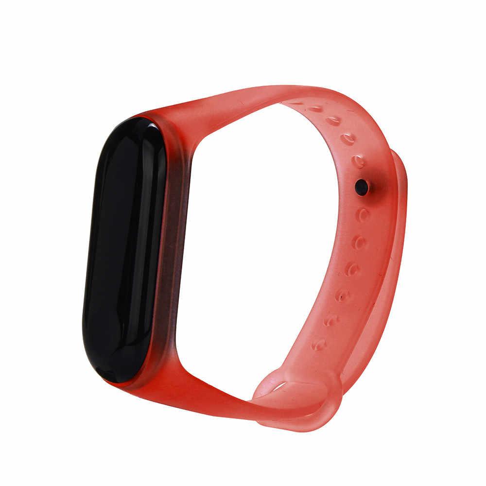 Silicone trasparente di Ricambio Wristband Cinturino Da Polso Per Xiao mi mi fascia 3 Wristband del Braccialetto Della cinghia Di Polso smartwatch Accessori