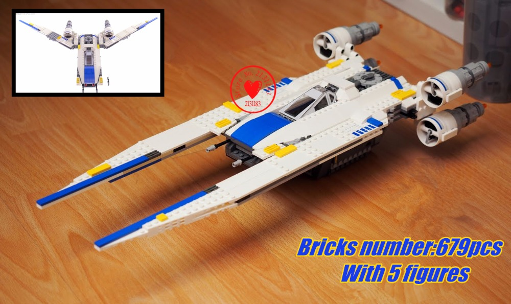 Star space Wars model Building kit Blocks Series Rebel U-Wing Fighter Brick Toy compatiable with lego kid gift set boys gift
