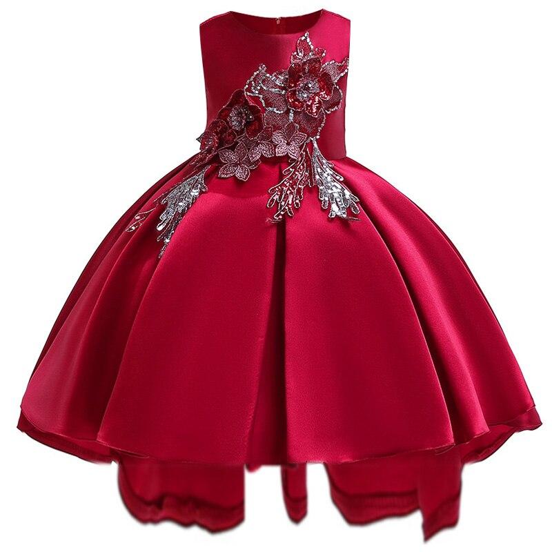 021ff2a59 Verano bebé niña ropa niñas princesa vestido de fiesta pétalo gasa chica  vestido de boda para niños vestido de cumpleaños 3-12 años de edad