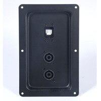 2 pçs/lote 725 speaker conector da caixa de junção do estágio Profissional placa de fiação de entrada ferro cartão duplo 4 núcleo cabeça de ohm