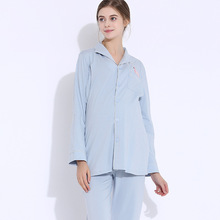 цены Pregnant women pajamas cotton long-sleeved month clothing Maternity feeding postpartum breastfeeding Nursing Pyjamas home set