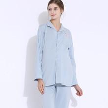 Pregnant women pajamas cotton long-sleeved month clothing Maternity feeding postpartum breastfeeding Nursing Pyjamas home set