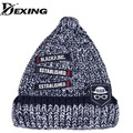 [Dexing]Adult Casual Cotton Timelimited New Winter Hats for men women Letter Patch HipHop Warm Knitted Hat Couples Lover Beanies