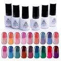 6 Bottles/Set 5ml BORN PRETTY Temperature Color Changing UV Gel Polish Thermal Soak Off Nail UV Gel Varnish Set