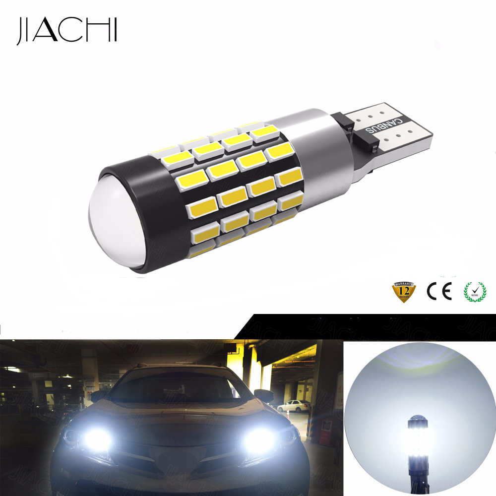 JIACHI 100 x Automobile LED Replacement Parts Clearance Light T10 5W5 3014 54 EX CANBUS No