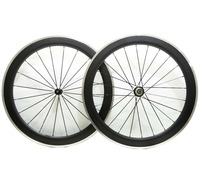 Freeshipping By EMS Alloy Brake Surface Carbon Wheel 60mm Depth Road Bike Carbon Wheelset 23mm Width