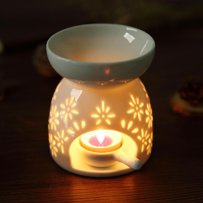 Ceramic Tea Light Holder Aromatherapy Essential Oil Burner Aroma Lamp  Diffuser Candle Holder Home Decor White|Incense & Incense Burners| -  AliExpress