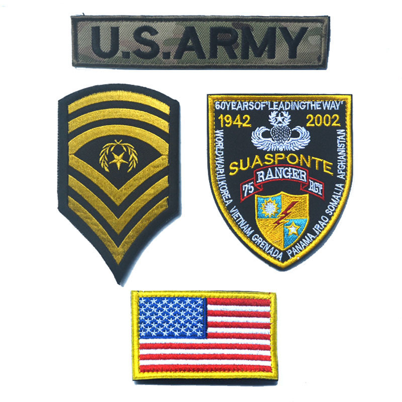 2171a9d73454 US $14.2 20% OFF|4pcs/lot American Flag Patch DIY Embroidered Patriotic USA  Military Army Tactics Country Flag Patches Fabric Armband for Clothes-in ...