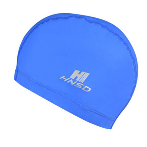 HNSD PU Cover Protect Ear Long Hair Waterdrop Swimming Caps Blue