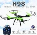 H98 jjrc rc quadcopter com câmera hd voando câmera helicóptero zangão headless modo dron helicóptero de controle remoto profissional