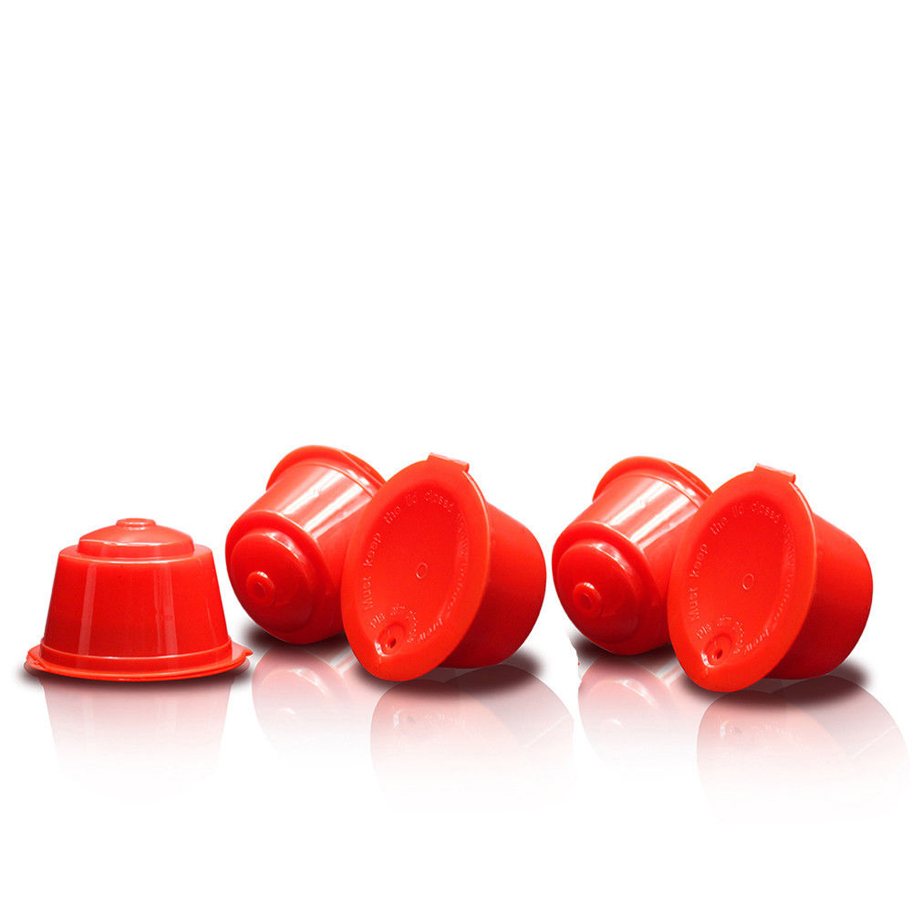 Red 1pcs Reusable Empty Dolce Gusto Coffee Capsule Plastic 50 Times Refillable Dulce Gustos Baskets Espresso Nescafe Filter Cup