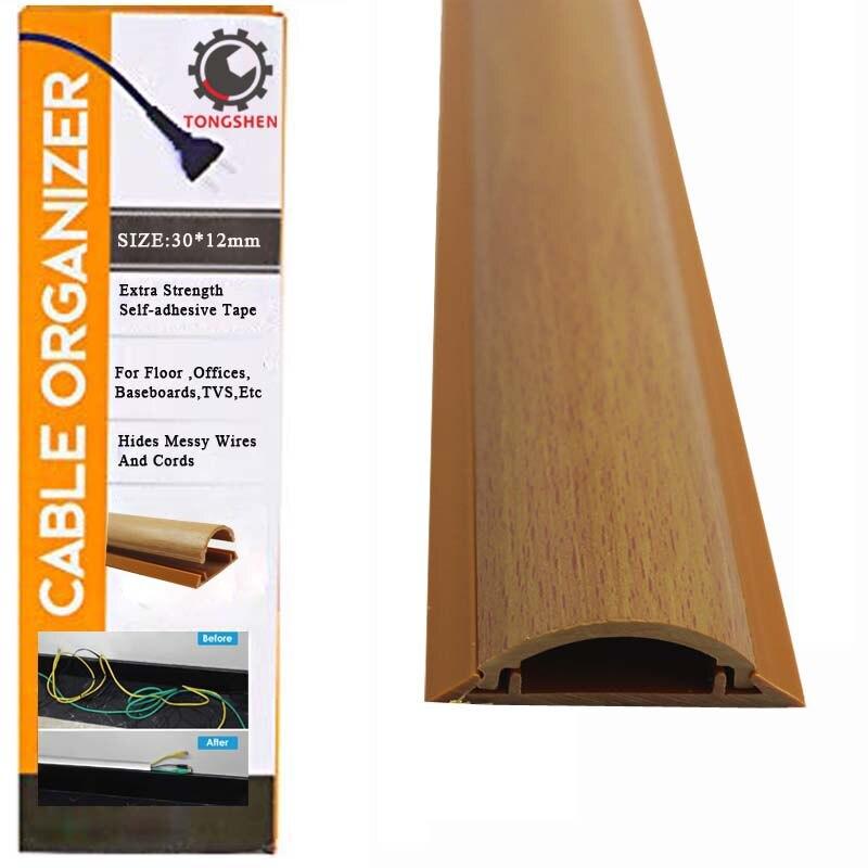 Canaleta para cable el/éctrico imitaci/ón madera de cerezo Medidas 30x25x2000mm