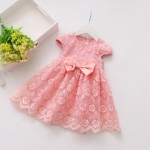 Summer Baby Dresses Lace Ruffles Toddler Baby