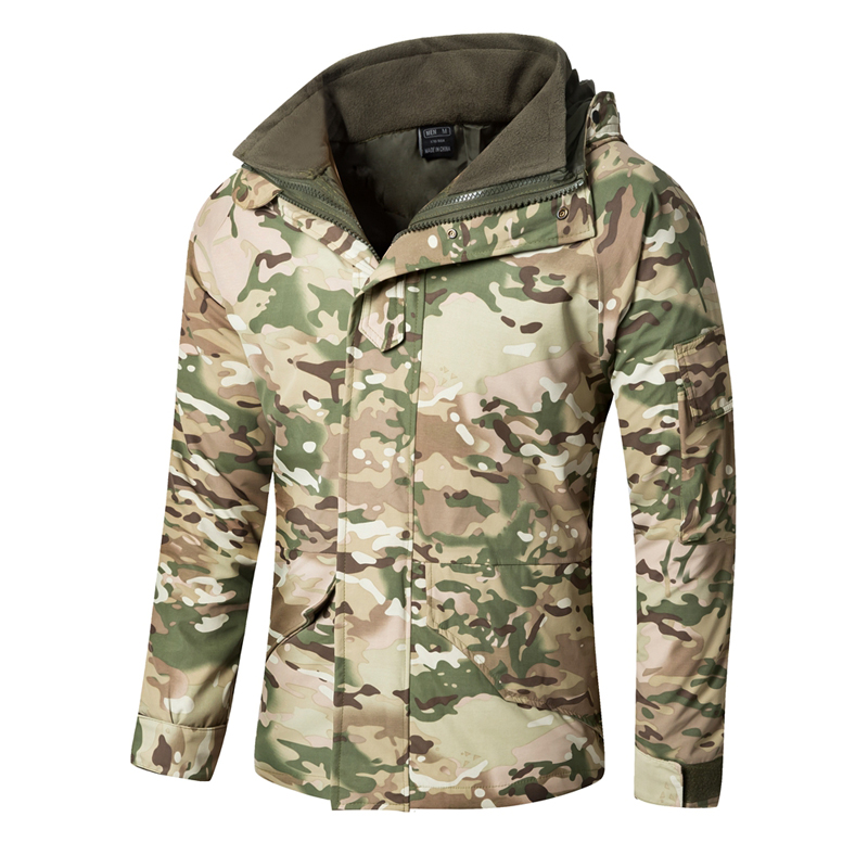 Men s G8 Waterproof Windbreaker Tactical Jacket Army Camouflage Winter Coat Warm Fleece inside Military Jacket