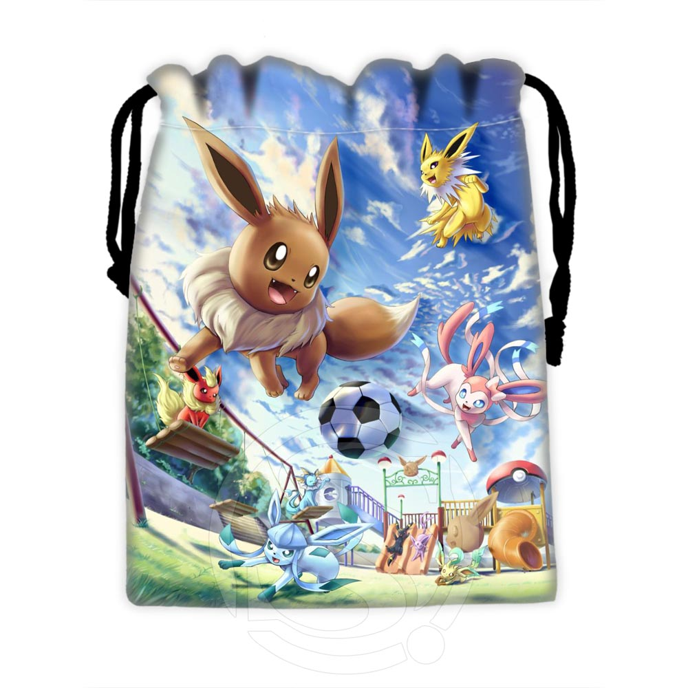 Custom Eevee #3 Fashion Classic Drawstring Bags For Mobile Phone Tablet PC Packaging Gift Bags18X22cm SQ00729-@H0565
