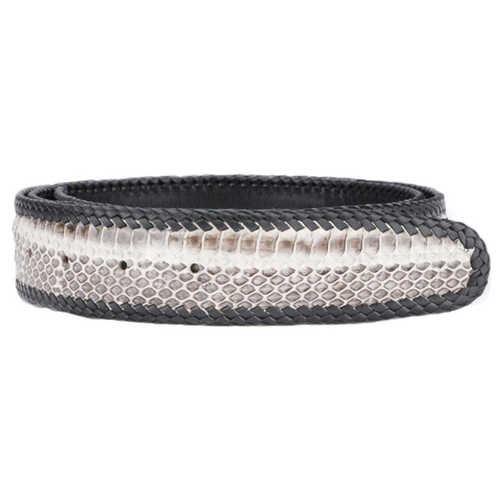 FAJARINA di Alta Qualità Vera Pelle di Serpente Cinture In Pelle per Gli Uomini Tessuto Linea di Cinghie Cintura 3 Colori Opzionale Senza Fibbia N17FJ340 - 4