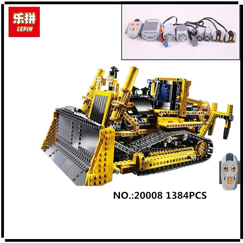IN STOCK LEPIN 20008 1384PCS technic series remote control the bulldozer Model Assembling Building block Bricks kits Compatible