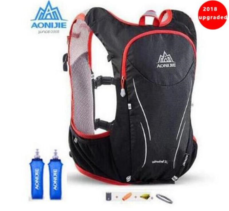 AONIJIE 5L Upgraded Outdoor Running Bag Backpacks Marathon Hiking Cycling Backpack Hydration Upgraded Vest Pack стоимость