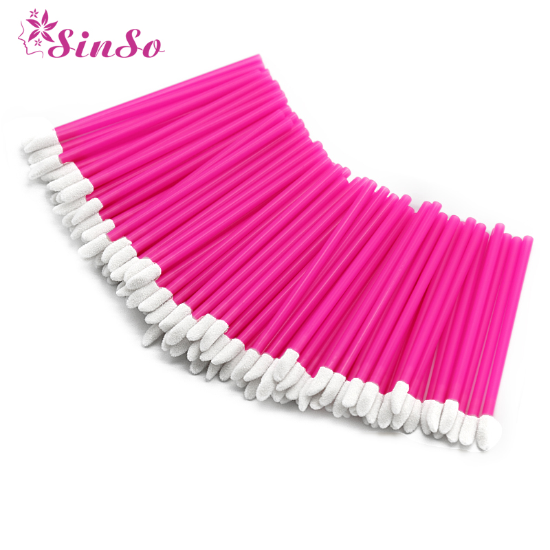 Sinso disposable lip brushes for makeup makeup brushes cosmetic lip brush Lipstick gloss wands applicator makeup tool set kits-in Eye Shadow Applicator from Beauty & Health
