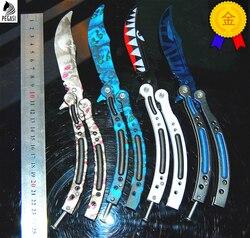 Cs go mariposa en el cuchillo balisong Karambit cuchillo plegable cuchilla de regalo cuchillo de entrenamiento cuchillo de práctica no afilado