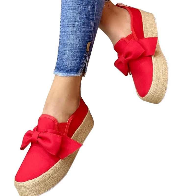 SHUJIN Mùa Xuân 2020 Đế Phẳng Giày Nền Tảng Cho Chân Trên Da Phẳng Da Lộn Nữ Cho Nữ Mộc Mạch Trà Giày Thường