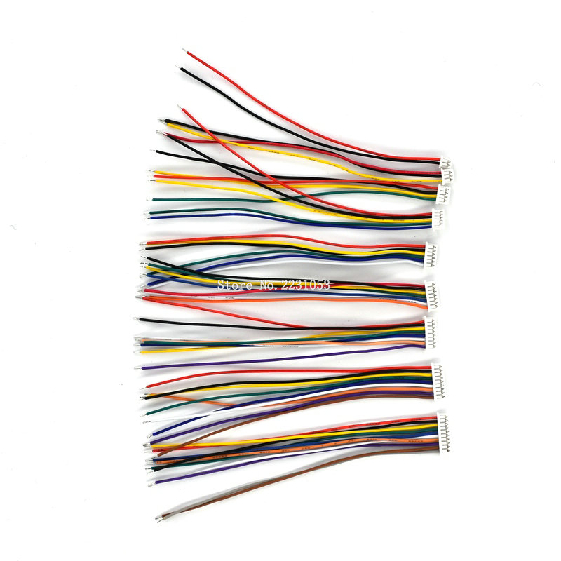 5PCS <font><b>Cable</b></font> <font><b>Connector</b></font> XH 1.25 Single Electronic Wire Connectors 2/3/<font><b>4</b></font>/5/6/7/8/9/10 <font><b>Pin</b></font> 10cm DIY Line Forward Direction 28AWG image