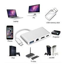 DOITOP USB-C Converter For Macbook Samsung S8 1080P 4K HD 4 in 1 USB 3.1 Type C to HDMI+USB 3.0+RJ45+Type-C Audio Video Adapter