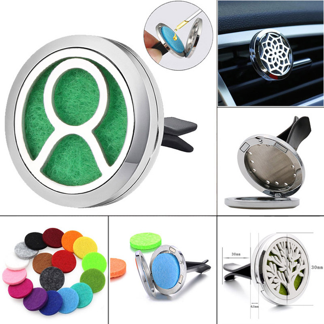 twelve Constellations Taurus Aromatherapy Jewelry Car Perfume Essential Oil Diffuser Stainless Steel Air Vent Freshener Jewelry