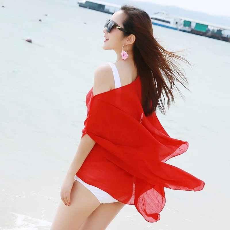dce457fc82b7b ... 2019 Chiffon Cover Up Sexy Womens Swimwear Beachwear Summer Vacation Kaftan  Summer Sarong Dress ...
