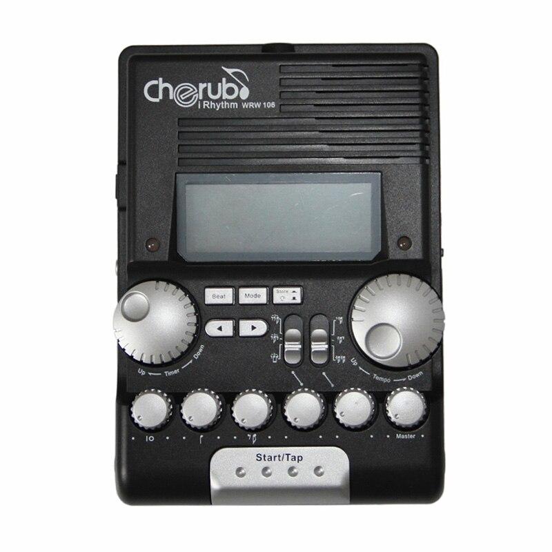 Cherub WRW 106 Rhythm Trainer Drum Metronome Professional Multi Function Digital Electronic Drum Drummer Metronome Percussion