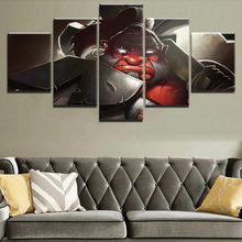 Canvas HD Prints Game Posters For Living Room Wall Art Pictures 5 Pieces Axe DotA 2  Dota Paintings Home Decorative Framework
