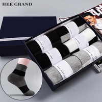 HEE GRAND 6 Pairs Lot Men Socks Autumn Winter Thick Warm Breathable Cotton High Quality Wide