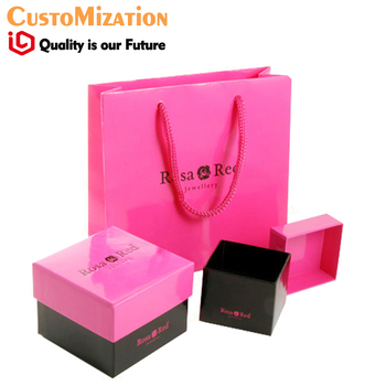 printing logo Cosmetic Packaging Design Service  jewelry gift packaging paper bags box set packaging and labeling