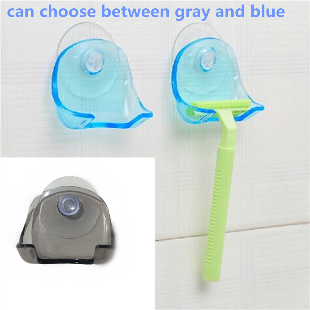 Discount Price Bathroom Shelves Plastic Shaver Holder Washroom Wall Sucker Suction Cup Hook Razor Bathroom Supplies