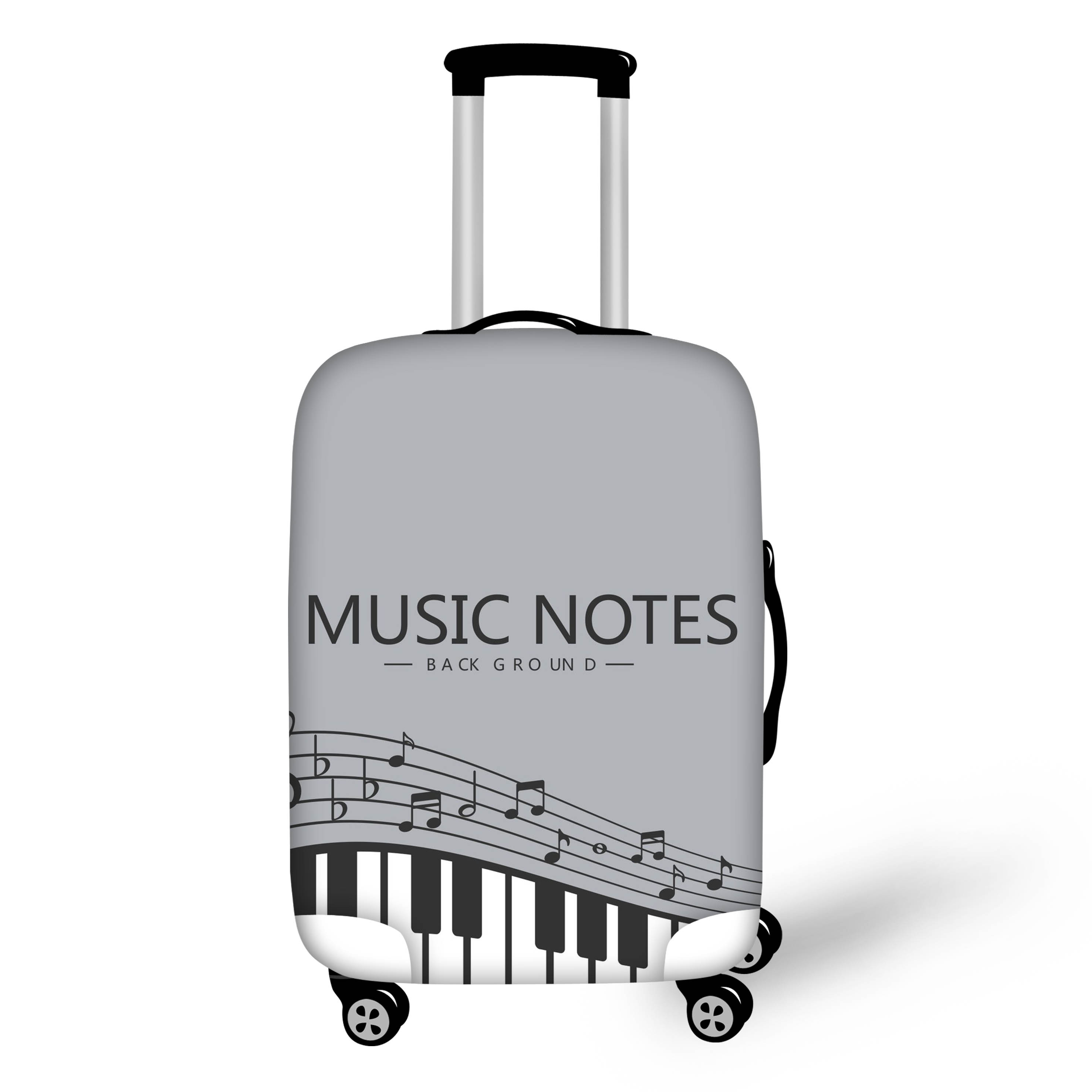 Luggage Cover Music Hearts Notes Stars Melodic Protective Travel Trunk Case Elastic Luggage Suitcase Protector Cover