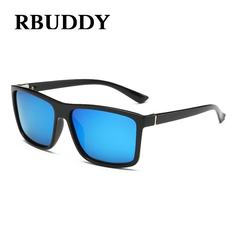 RBUDDY 2019 gafas de sol polarizadas de los hombres que conducen el cuadrado clásico de la pesca de protección gafas de sol lunettes de soleil hombre UV400 gafas
