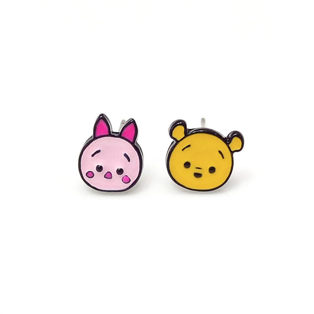 Bing Tu Lovely Cartoon Little Earrings Women Girls Gifts Anime Donkey Jumpy  Tigger Stud Earrings Ohrringe