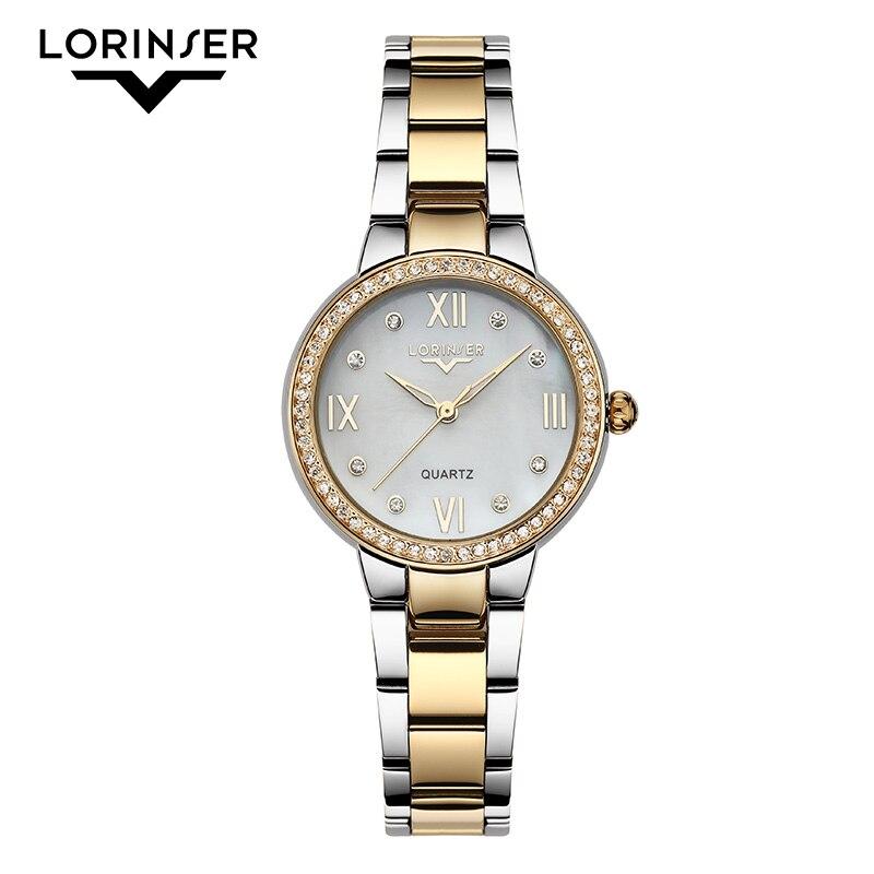 2019 Lorinser japan MOVT Sliver Stainless Steel Watches Women Top Brand Luxury Casual Clock Ladies Wrist Watch Relogio Feminino 2