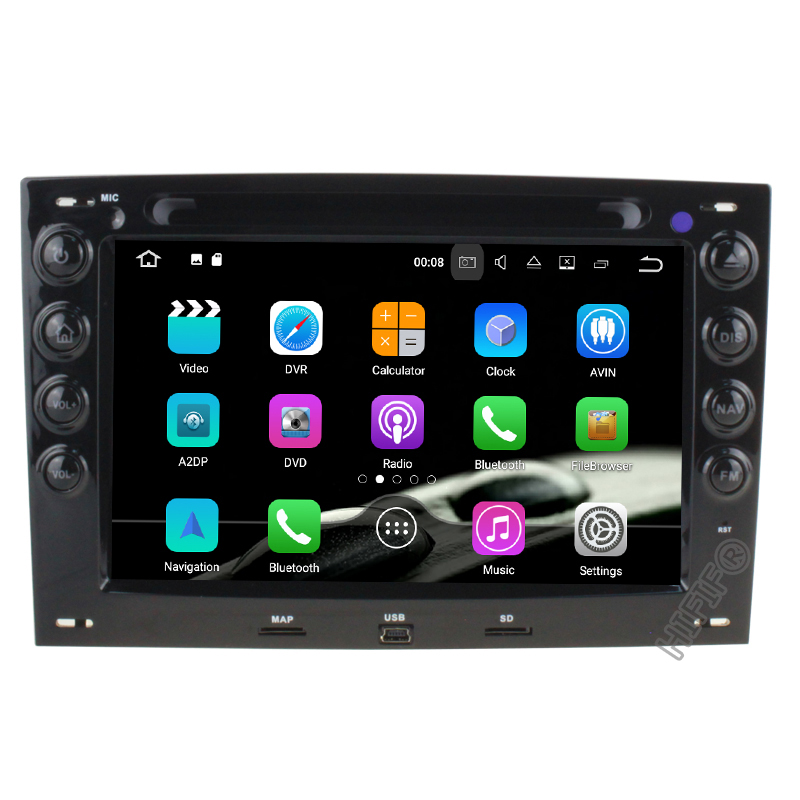 IPS 4G+64G Android 9.0 Car <font><b>DVD</b></font> Radio Player for Renault <font><b>Megane</b></font> <font><b>2</b></font> ii 2006 2007 2008 2009 2010 with BT Wifi <font><b>GPS</b></font> image
