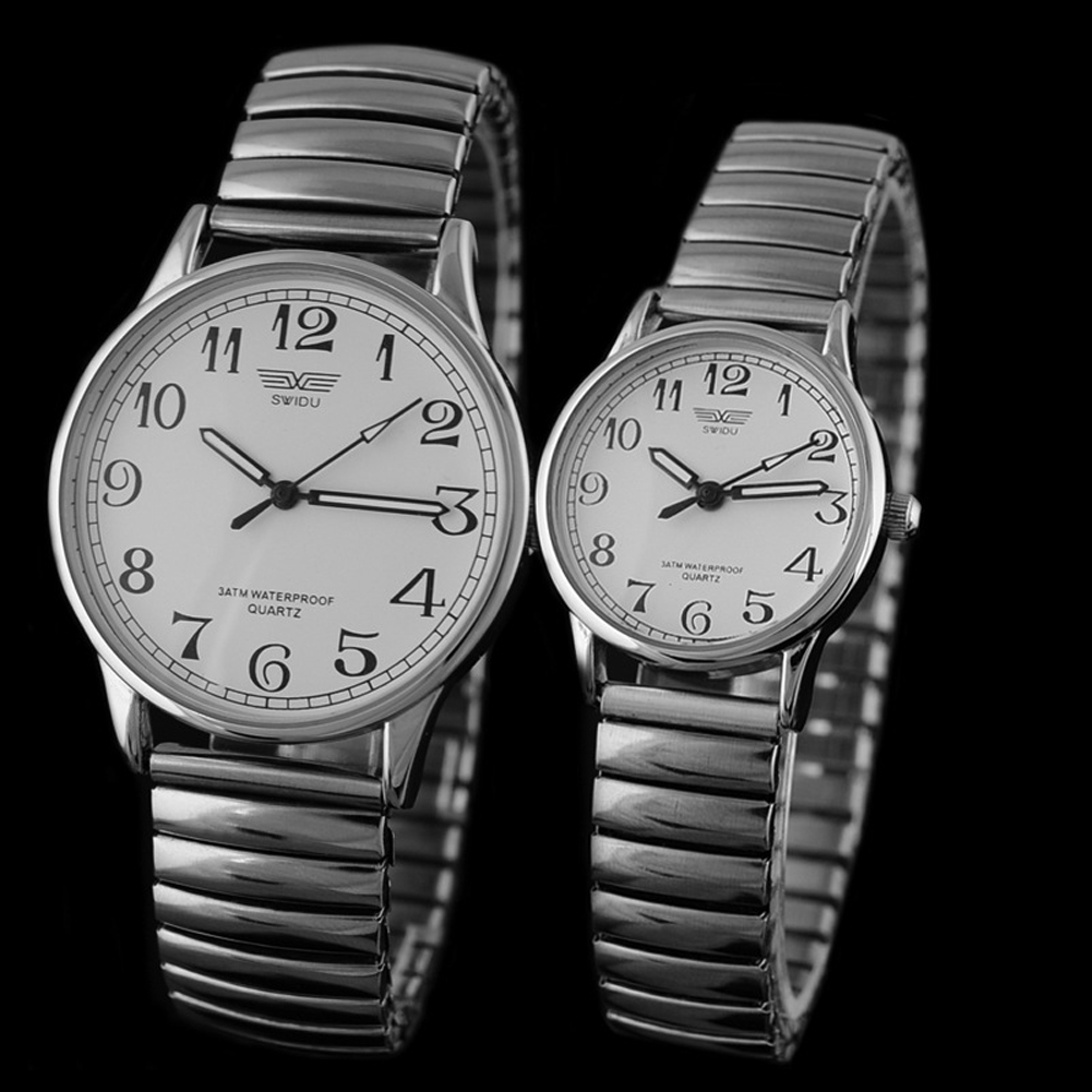 New Luxury Brand Lover Watches Fashion Men's Stainless Steel Quartz Couple Watch Women Retro Clock Business Quartz Silver Watch longbo men and women stainless steel watches luxury brand quartz wrist watches date business lover couple 30m waterproof watches