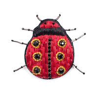 embroidery india silk pin on patches for clothing brooch ladybug badge designer patches for jeans parches bordados para ropa