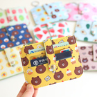 6 Card Slots PU Leather Korean Cartoon Fruit Brown Bear & Bunny Cony ID Card Holder Bank Cards Packs Girls Wallet Cute gifts