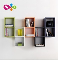 Korean Children Free Combination Bookcase Bookshelf Cabinet Lockers Simple Wall Shelves Russia Squares