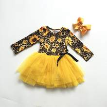 45960fadd72da Popular Girls Sunflower Dress-Buy Cheap Girls Sunflower Dress lots ...