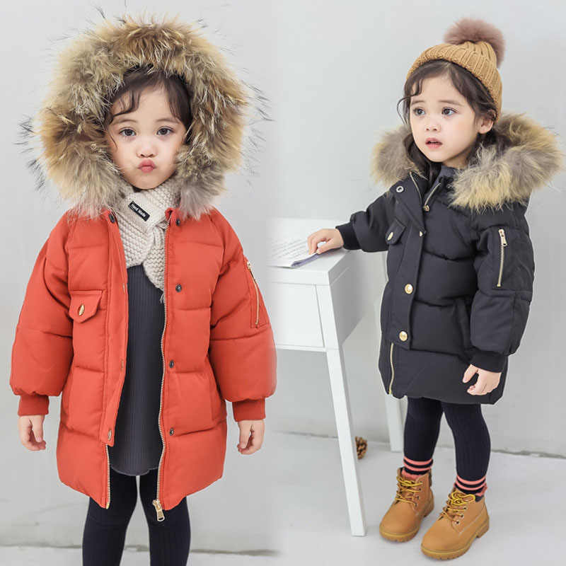 fea37fdb115c Detail Feedback Questions about girl winter jacket nordic coat real ...