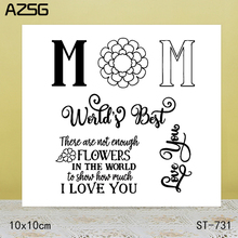 AZSG I LOVE YOU Clear Stamps/Seals For scrapbooking DIY Card Making/Album Silicone Decoration crafts 10*10cm