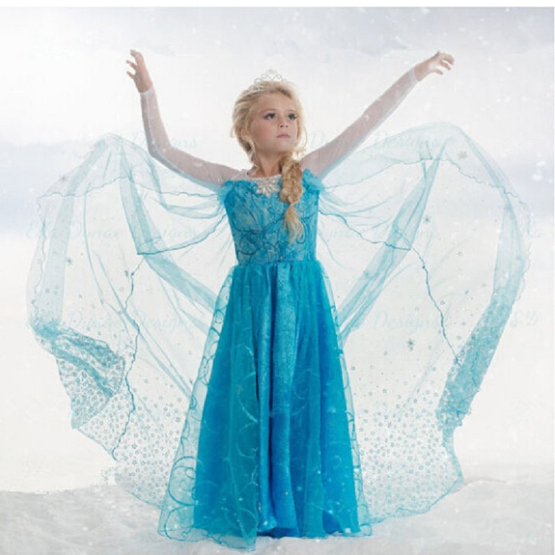 Special offer Christmas Girl dress Girl Clothes chiffon Princess Party Dresses 3-10Y  girls Clothing Cinderella elsa anna dressSpecial offer Christmas Girl dress Girl Clothes chiffon Princess Party Dresses 3-10Y  girls Clothing Cinderella elsa anna dress