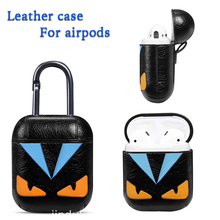 Leather Case For Apple Airpods Protective Cover Earphone Accessories 2 Cute TWS i12 i7s i9s i18